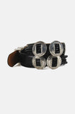 One More Chance Vintage - Vintage Take It Easy Braided Concho Leather Belt