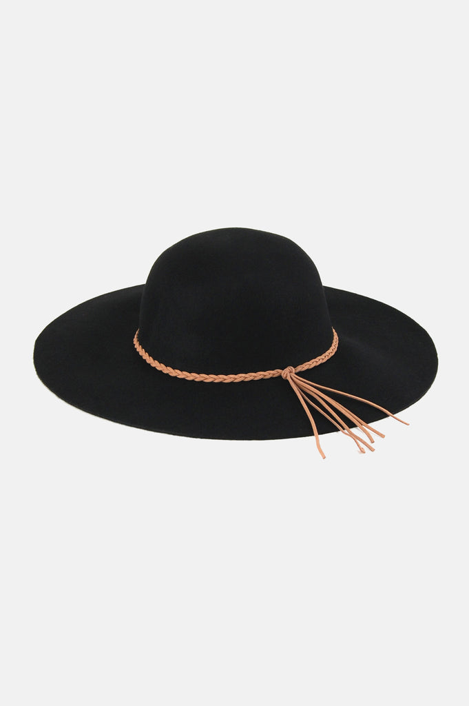 One More Chance Boutique - Lana Wide Brim Floppy Hat in Black