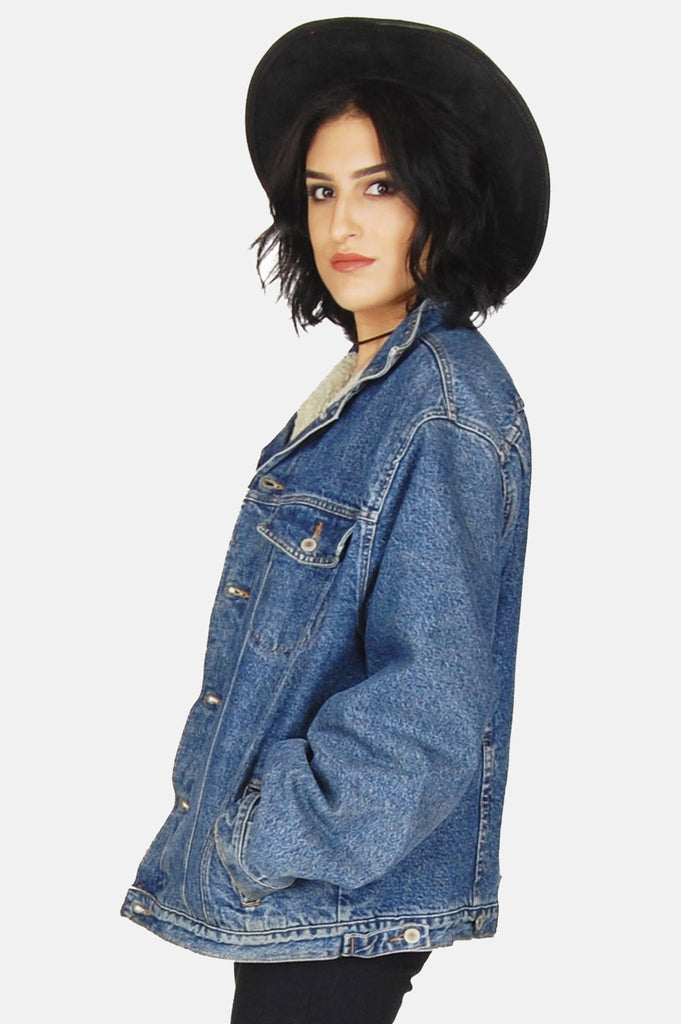 One More Chance Vintage - Vintage Ranch Exit Denim Sherpa Jacket