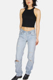 Easy Livin' Patched Levi Denim Boyfriend Jeans