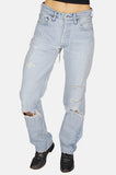 Easy Livin' Patched Levi Denim Boyfriend Jeans - One More Chance - 3