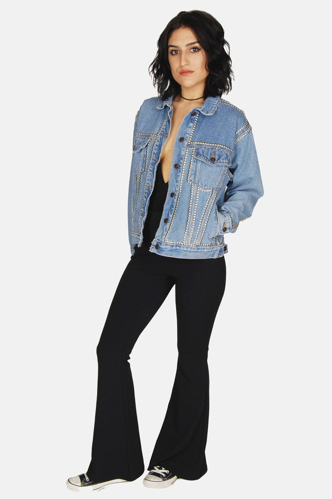 One More Chance Boutique - Vintage Wild One Studded Denim Jacket