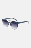 One More Chance Vintage - Freja Retro Rounded Fashion Sunglasses in Blue