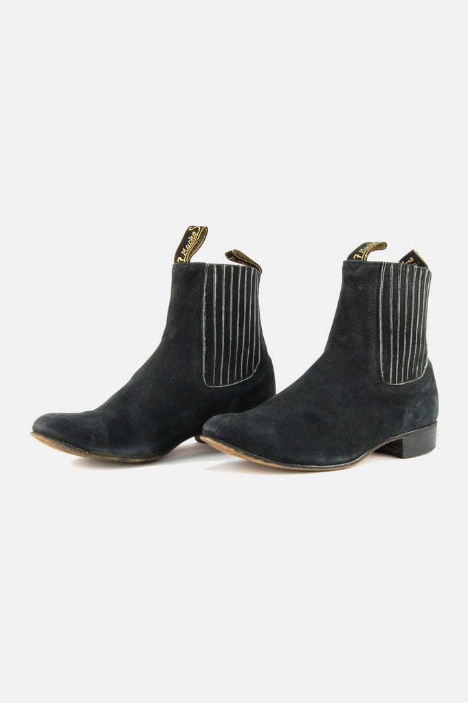 One More Chance Vintage - Vintage Bota's Botime Chelsea Suede Leather Ankle Boots