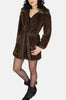 Nancy London Leathers Faux Fur Wrap Jacket