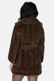 One More Chance Vintage - Vintage Nancy London Leathers Faux Fur Wrap Jacket