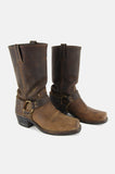One More Chance Vintage - Vintage Frye Harness Leather Riding Boots - Brown