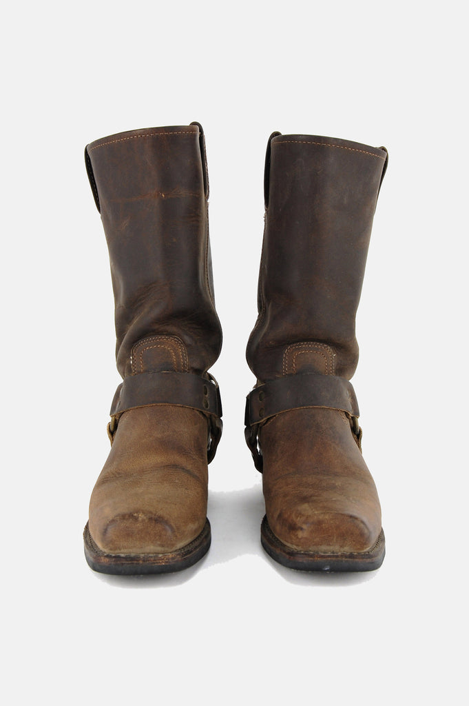 Frye Harness Leather Riding Boots - Brown - One More Chance - 3