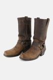 Frye Harness Leather Riding Boots - Brown - One More Chance - 4