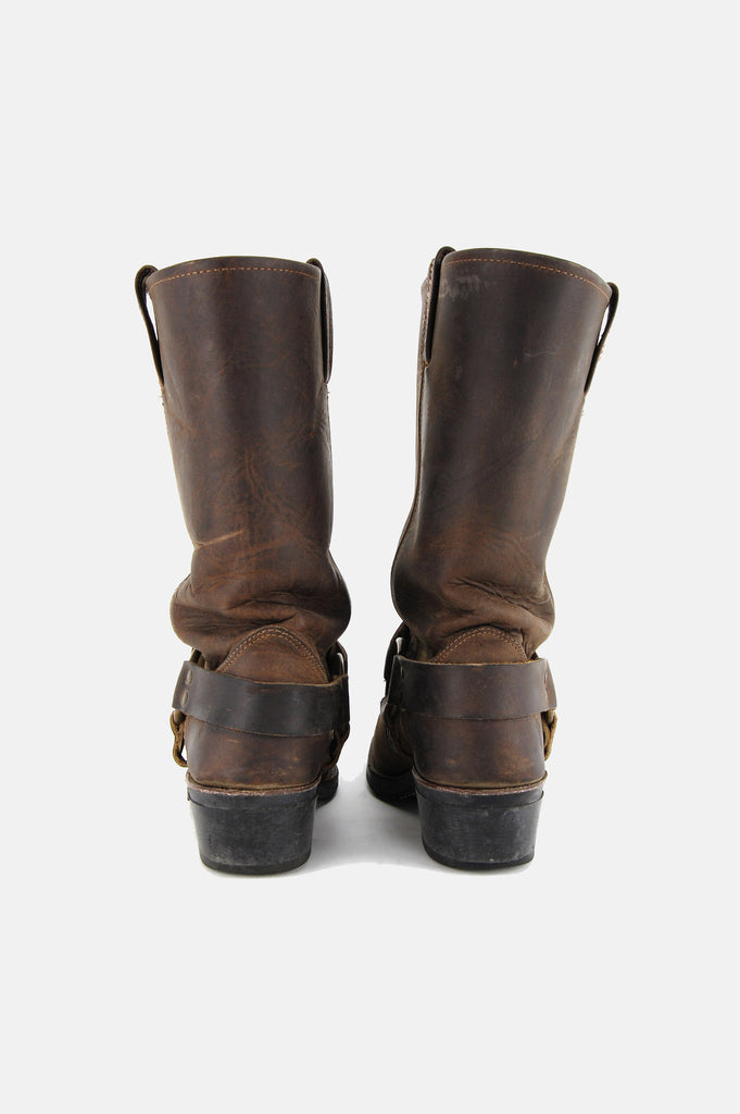 Frye Harness Leather Riding Boots - Brown - One More Chance - 5