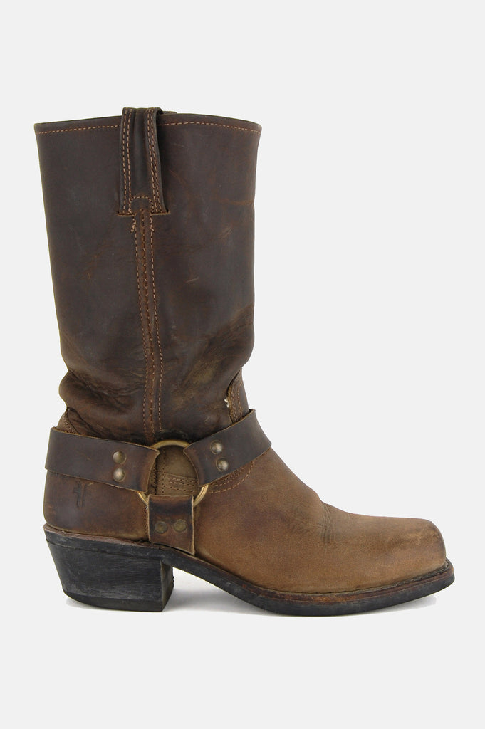 Frye Harness Leather Riding Boots - Brown - One More Chance - 1