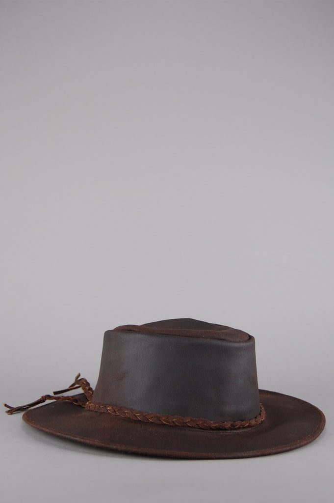 One More Chance Vintage - Vintage Easy Rider Leather Rancher Hat - Light Brown