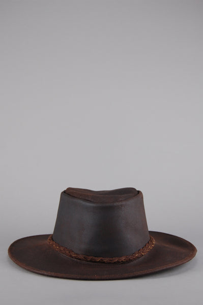 Easy Rider Leather Rancher Hat - Light Brown