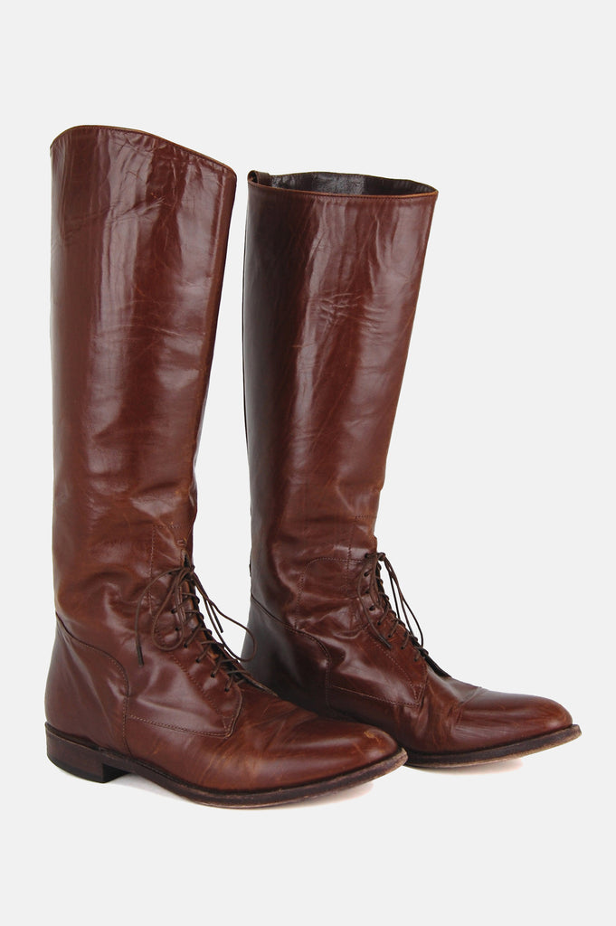 Walk This Way Knee High Riding Boots - One More Chance - 2