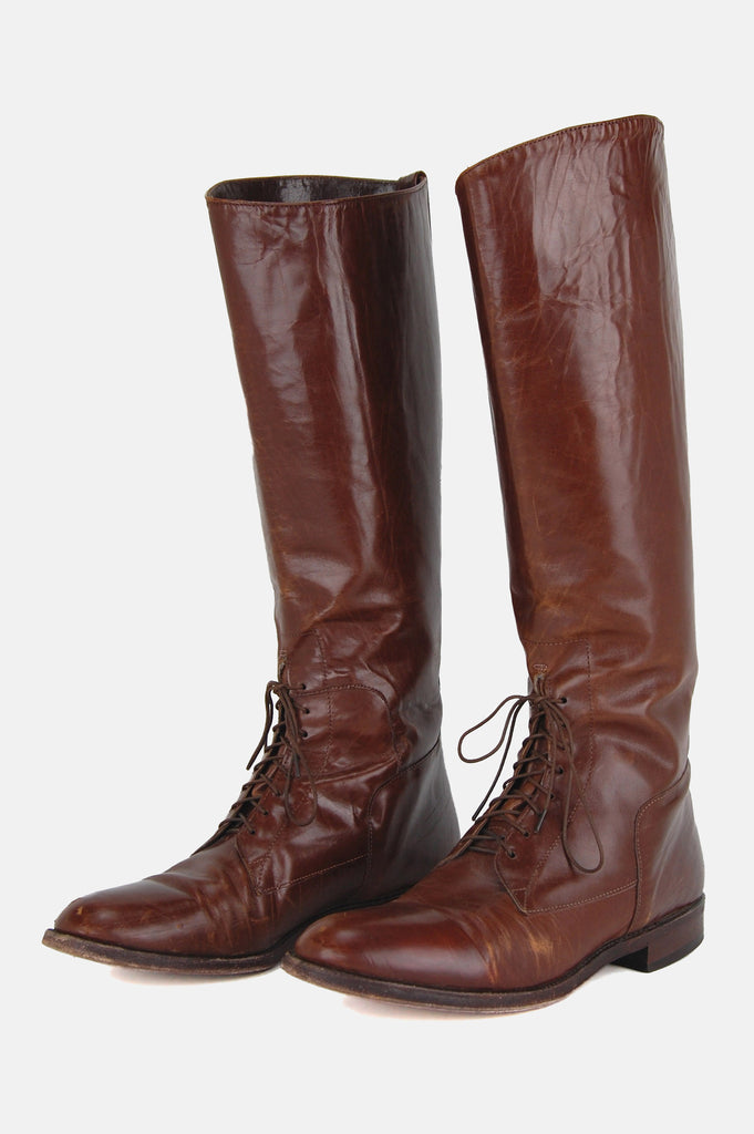 One More Chance Vintage - Vintage Walk This Way Knee High Riding Boots