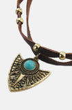 One More Chance Vintage - Arrowhead Knotted Leather Choker in Black