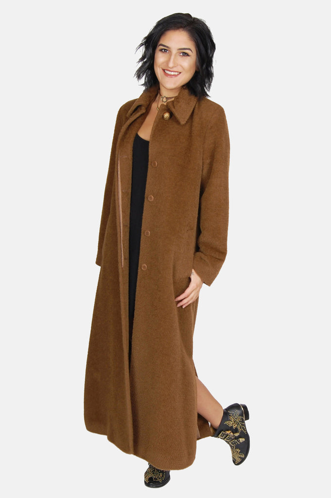 One More Chance Boutique - Vintage Golden Years Longline Wool Coat