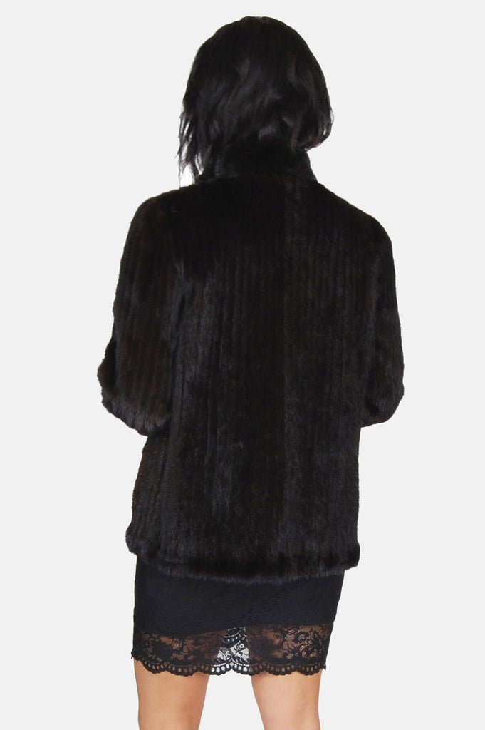 One More Chance Boutique - Vintage Factory Girl Mink Fur Jacket