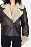 Siena Sherpa Textured Leather Jacket - One More Chance - 3