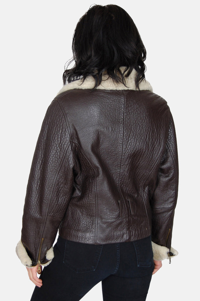 Siena Sherpa Textured Leather Jacket - One More Chance - 4