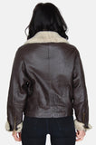 Siena Sherpa Textured Leather Jacket - One More Chance - 5