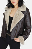 Siena Sherpa Textured Leather Jacket