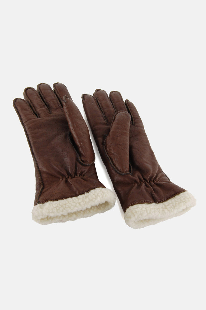 One More Chance Vintage - Vintage Drive On Sherpa Leather Gloves
