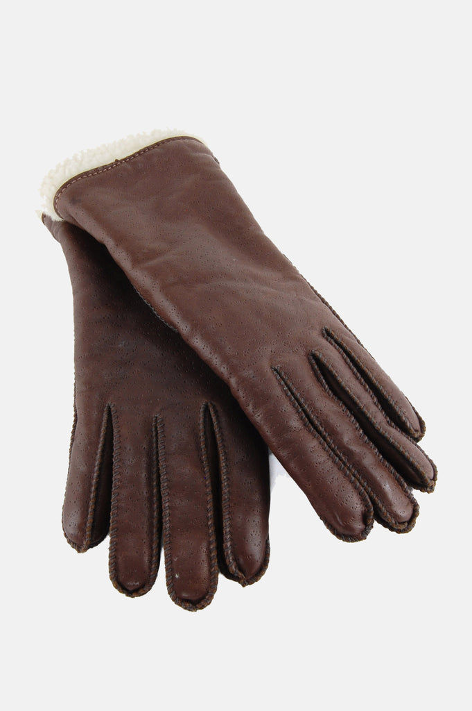 Drive On Sherpa Leather Gloves