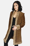 Go Your Own Way Shearling Embroidered Leather Coat - One More Chance - 1