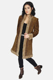 Go Your Own Way Shearling Embroidered Leather Coat - One More Chance - 2