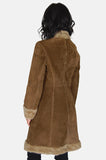 Go Your Own Way Shearling Embroidered Leather Coat - One More Chance - 4