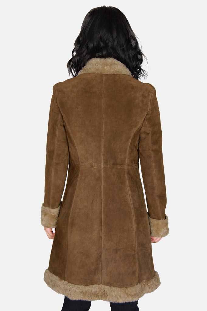 Go Your Own Way Shearling Embroidered Leather Coat - One More Chance - 5