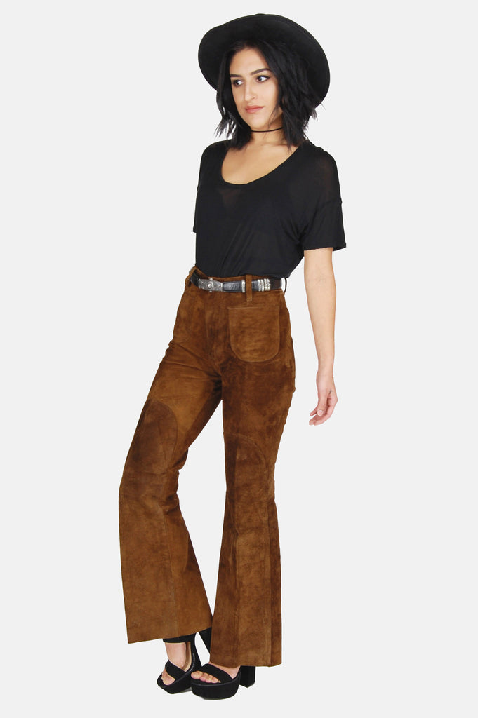 One More Chance Vintage - Vintage Levi Strauss Suede Bell Bottom Pants