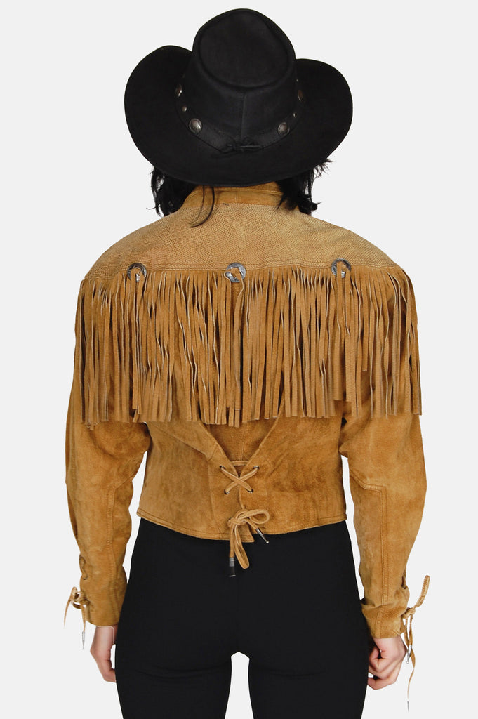 Wild Wind Concho Fringe Suede Leather Jacket - One More Chance - 2