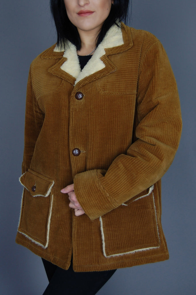 One More Chance Vintage - Vintage Rumblin' Sherpa Corduroy Rancher Jacket