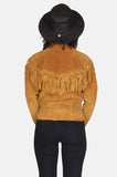 One More Chance Vintage - Vintage Be Free Fringe Suede Leather Jacket