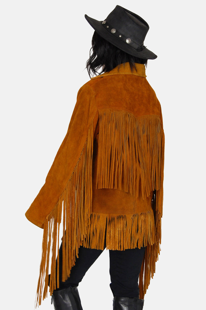 Fringed Out Suede Leather Jacket - One More Chance - 6