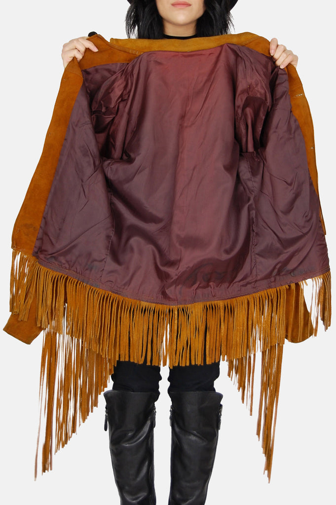Fringed Out Suede Leather Jacket - One More Chance - 7