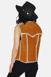 Country Livin' Sherpa Suede Leather Vest - One More Chance - 5