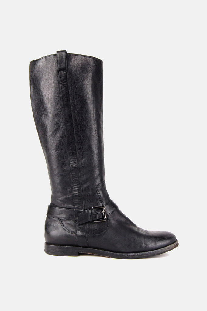 One More Chance Vintage - Vintage Hit The Road Buckled Leather Riding Boots