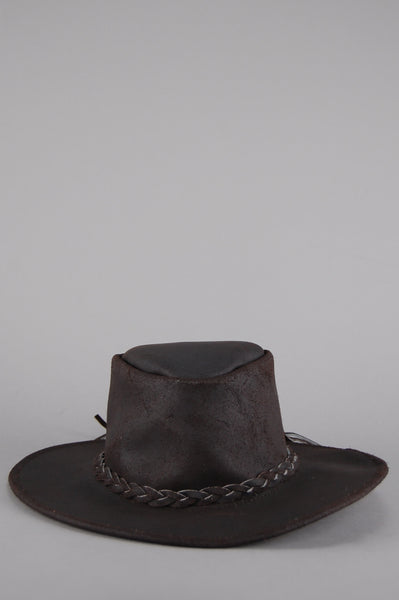 Easy Rider Leather Rancher Hat - Brown