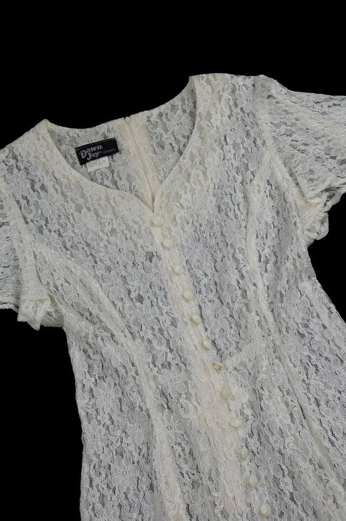One More Chance Vintage - Vintage Sweet Jane Lace Mini Dress
