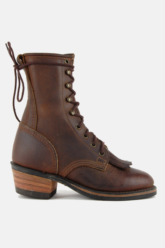 One More Chance Vintage - Vintage Durango Lace Up Leather Logger Boots
