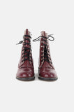 One More Chance Boutique - Vintage Diamond J Eggplant Leather Justin Boots