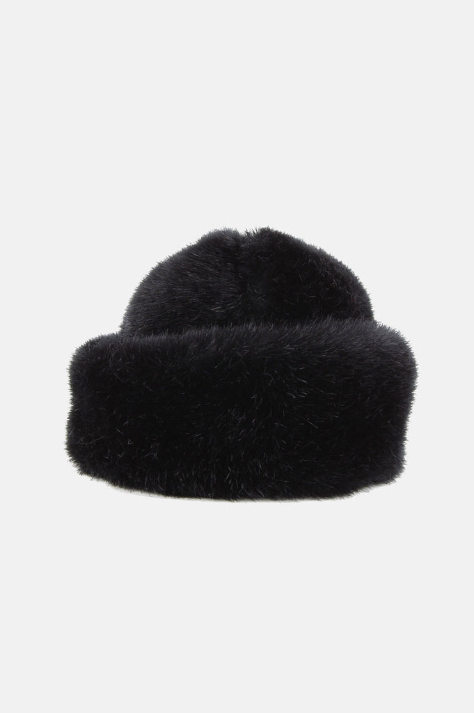 One More Chance Vintage - Vintage Astrakhan Russian Faux Fur Hat - Black