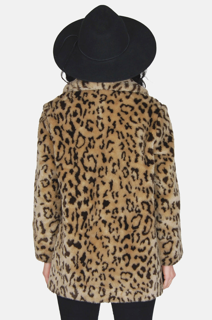 True Romance Leopard Faux Fur Jacket - One More Chance - 6