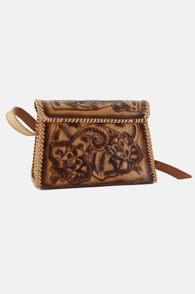 One More Chance Boutique - Vintage Rosalie Floral Tooled Leather Bag