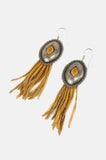 One More Chance Boutique - Vintage Fringe Leather Concho Earrings