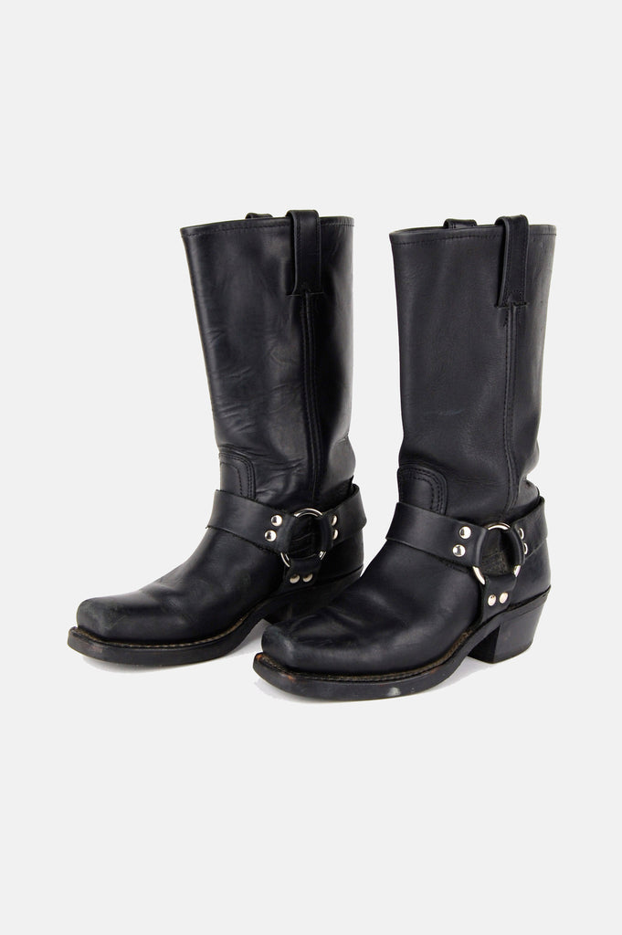 One More Chance Vintage - Vintage Frye Harness Leather Riding Boots