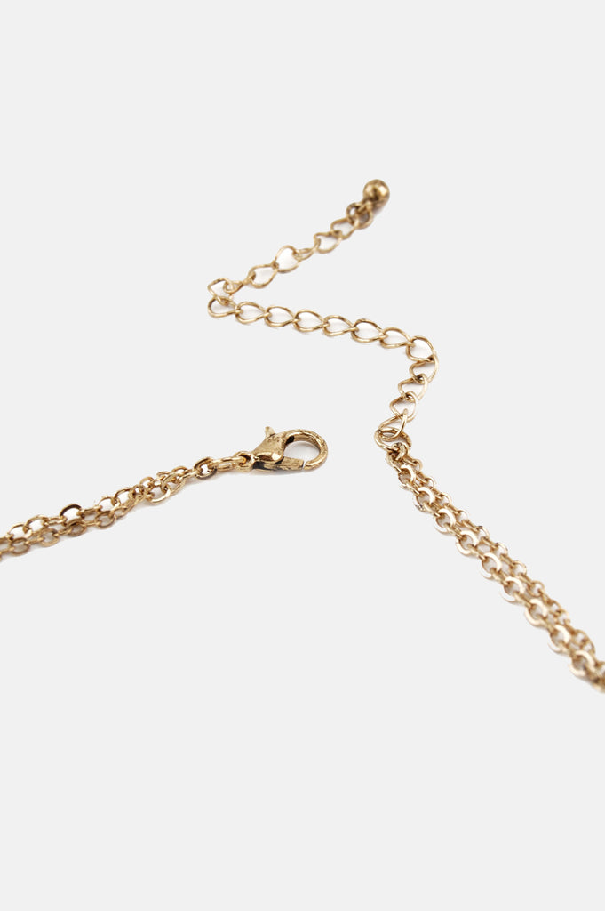 One More Chance Boutique - Delia's Triangle Layer Necklace in Gold